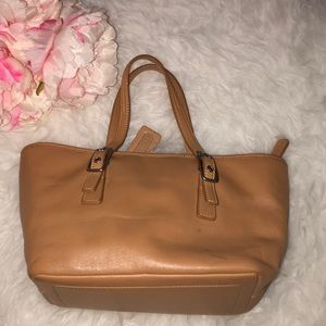 Coach Camel Tan Leather Legacy West Small Tote Bag